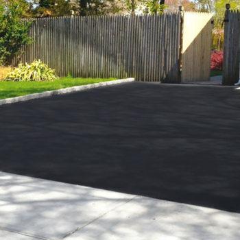 concrete driveway to house