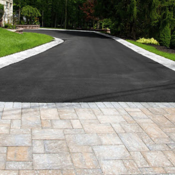 paver and asphalt drive