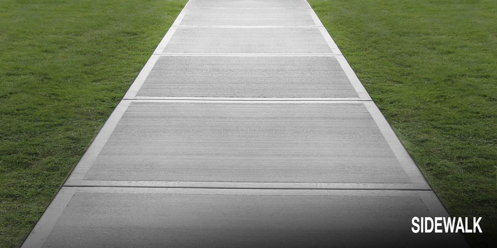 gray sidewalk