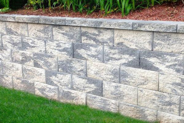 marble look brick wall
