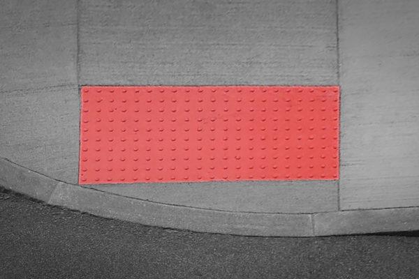 sidewalk non slip red
